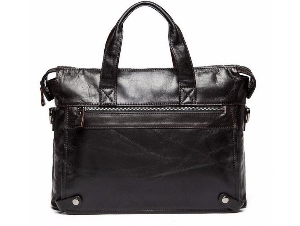 Мужская кожаная сумка для документов кофейная Jasper & Maine 7120C-2 - Royalbag