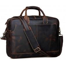 Стильна чоловіча сумка-портфель для документів з вінтажної шкіри Tiding Bag t1019 - Royalbag