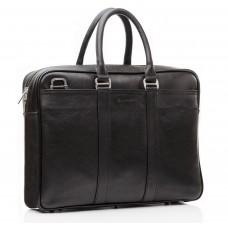 Классическая кожаная мужская сумка для ноутбука с наплечным ремнем Blamont Bn023A - Royalbag Фото 2