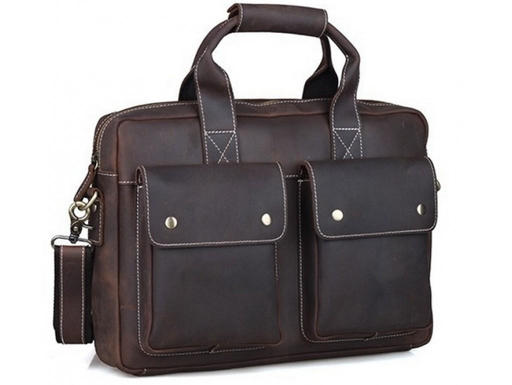 Мужской кожаный портфель TIDING BAG T1123 - Royalbag Фото 1