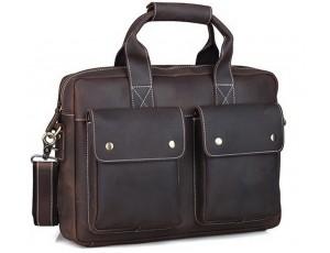Мужской кожаный портфель TIDING BAG T1123 - Royalbag