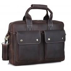 Мужской кожаный портфель TIDING BAG T1123 - Royalbag Фото 2