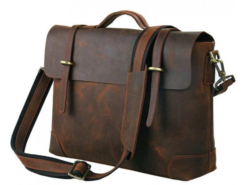 Мужской кожаный портфель TIDING BAG 7082R - Royalbag Фото 1