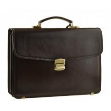 Мужской кожаный портфель Bn040C - Royalbag Фото 2
