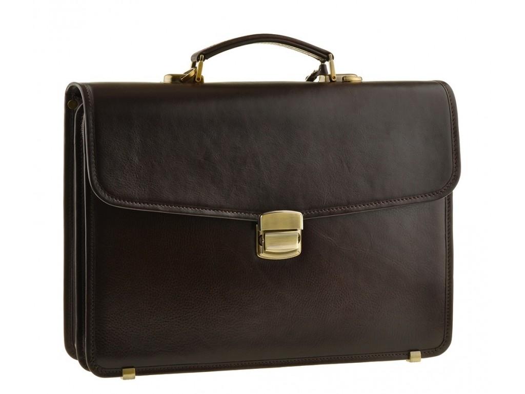 Мужской кожаный портфель Bn040C - Royalbag Фото 1