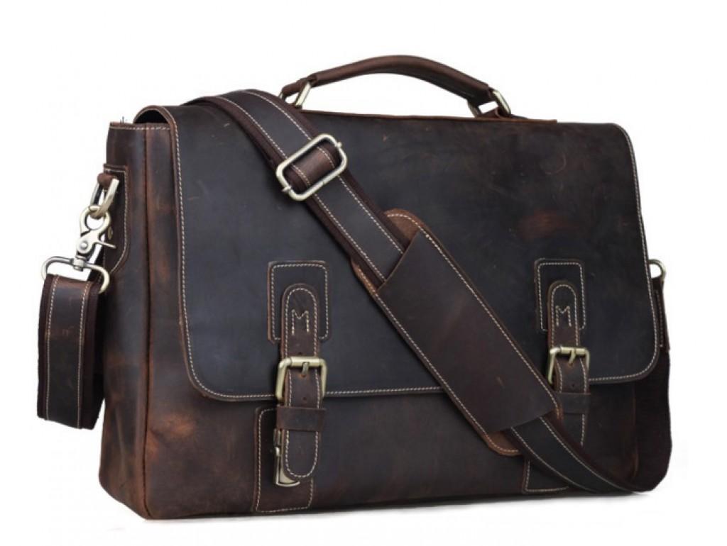 Мужской кожаный портфель TIDING BAG T8069-1 - Royalbag Фото 1