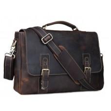 Мужской кожаный портфель TIDING BAG T8069-1 - Royalbag Фото 2
