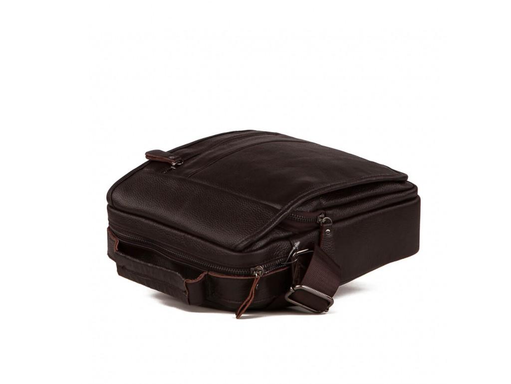 Вместительная барсетка через плечо из натуральной кожи Tiding Bag A25-2158C - Royalbag