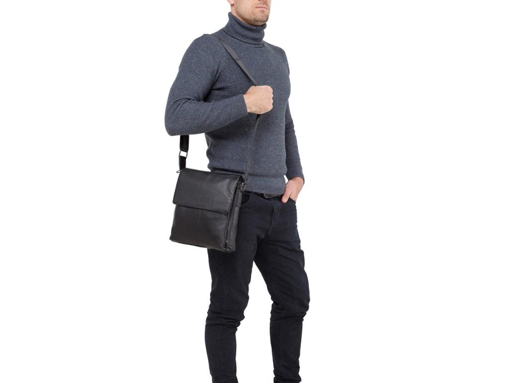 Мужской кожаный мессенджер телячья кожа Tiding Bag A25-8871A - Royalbag