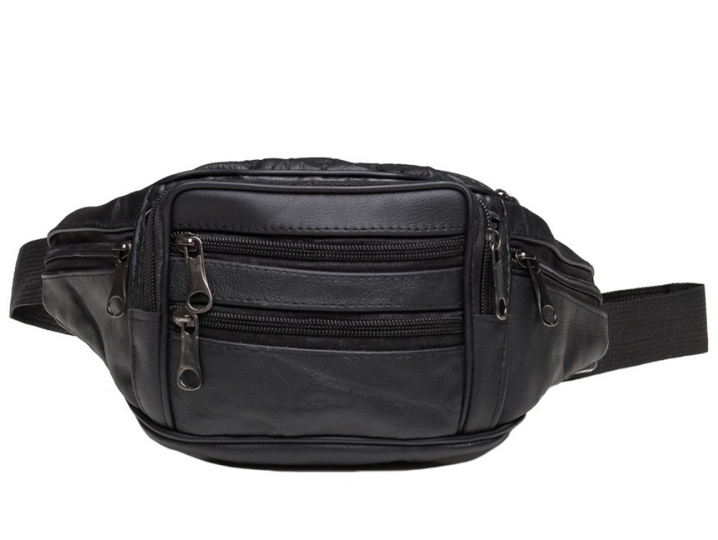 Кожаная сумка на пояс TIDING BAG A25-982A - Royalbag Фото 1