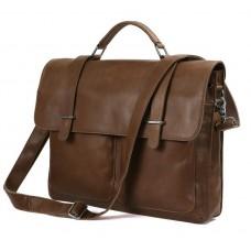 Мужской кожаный портфель TIDING BAG 7100B-2 - Royalbag Фото 2