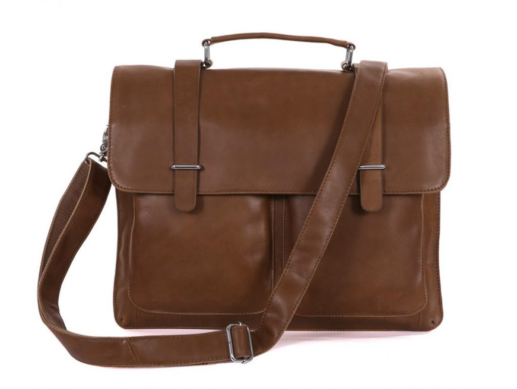Мужской кожаный портфель TIDING BAG 7100B-2 - Royalbag