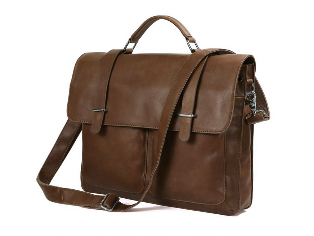 Мужской кожаный портфель TIDING BAG 7100B-2 - Royalbag Фото 1