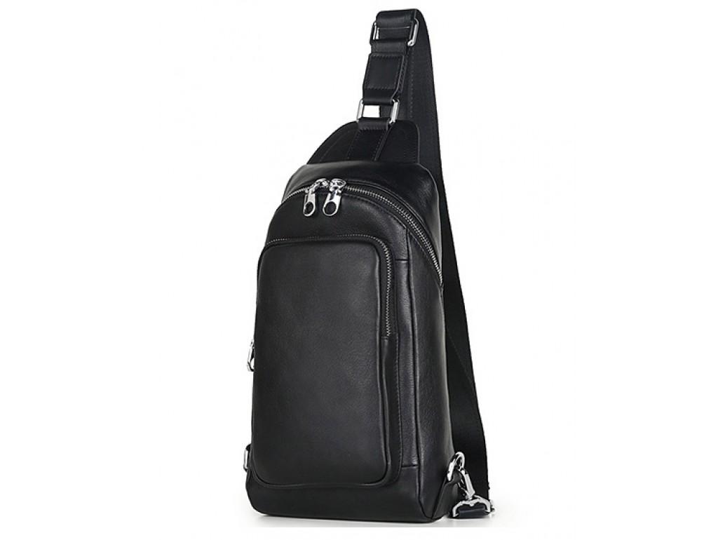Кожаный городской рюкзак на одну шлейку слинг Tiding Bag B3-2015-10A - Royalbag