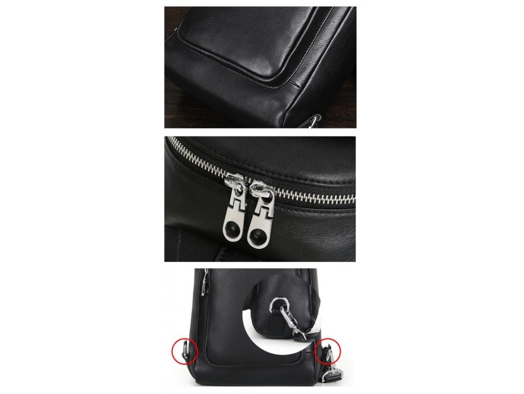 Кожаный рюкзак-слинг на одну шлейку Tiding Bag B3-2015-10A - Royalbag