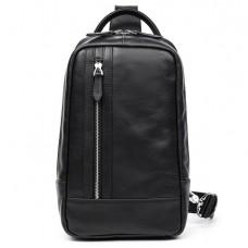 Вместительная сумка-рюкзак через плечо мужская на грудь наутральная кожа Tiding Bag B3-1725A - Royalbag