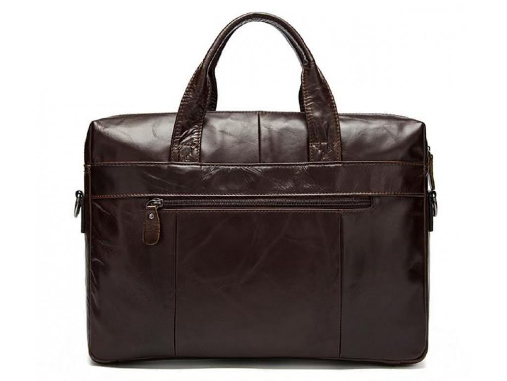 Сумка мужская кожаная шоколад с кожаным ремнем Bexhill Bx9005C - Royalbag