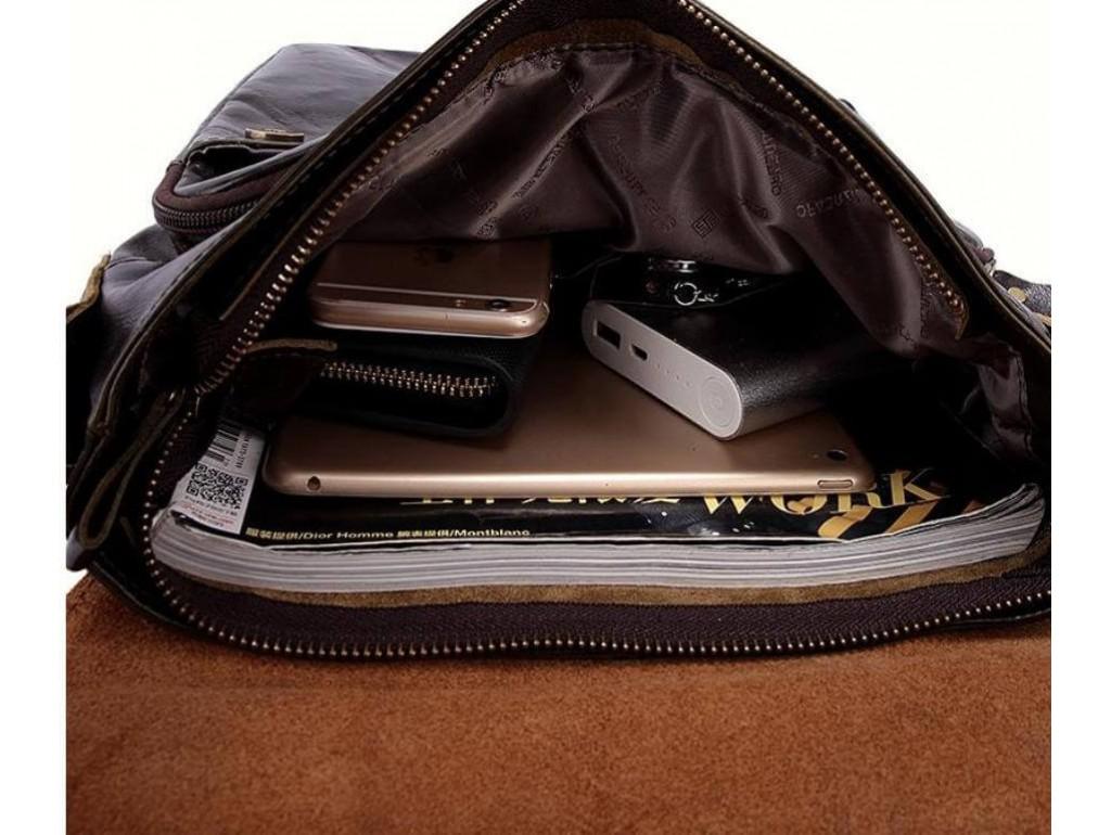 Сумка через плечо мужская кожаная с ручкой Bexhill BX1292DB - Royalbag