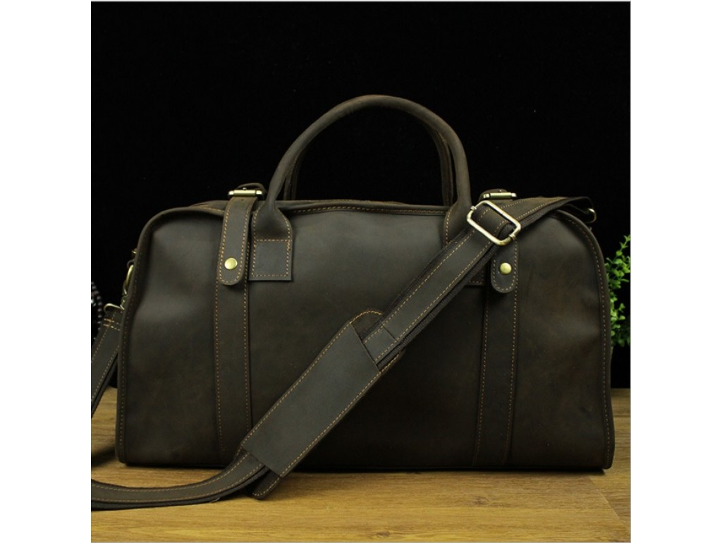 Cумка-саквояж мужская кожаная с наплечным ремнем BEXHILL BX1036 - Royalbag