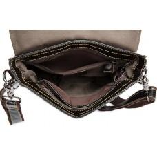 Мужская сумка через плечо из натуральной кожи гладкая Bexhill Bx8821C - Royalbag