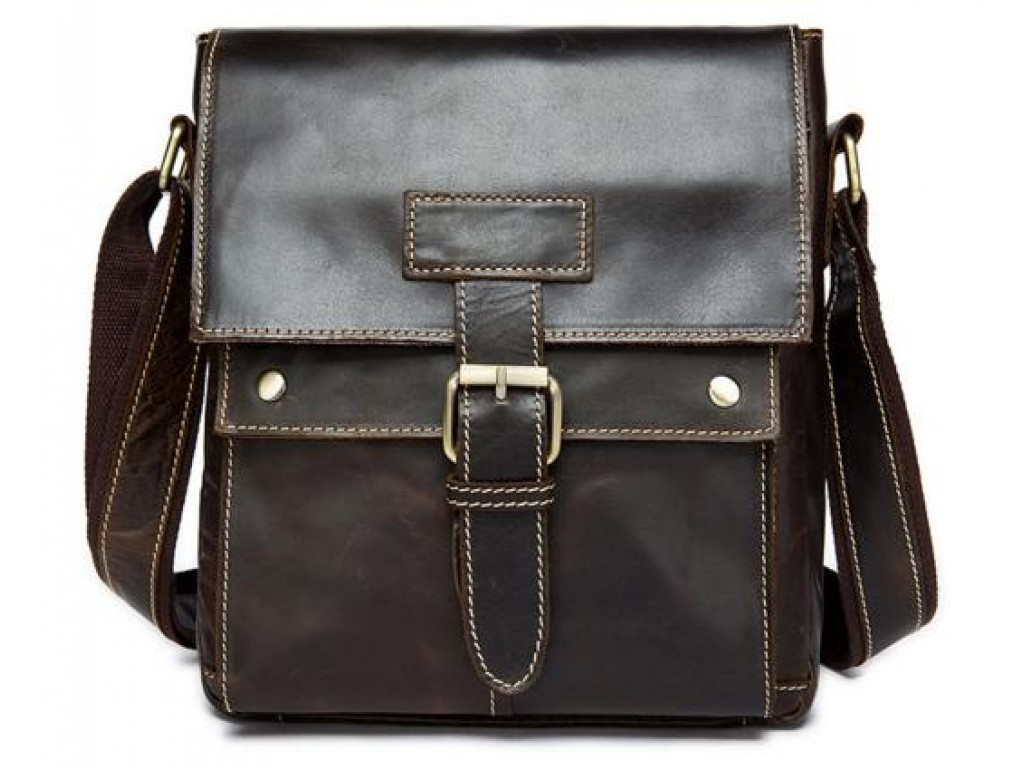 Мессенджер мужской кожаный через плечо Bexhill BX9040 - Royalbag