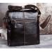 Мужская сумка через плечо из натуральной кожи глянцевая Bexhill L3356 - Royalbag