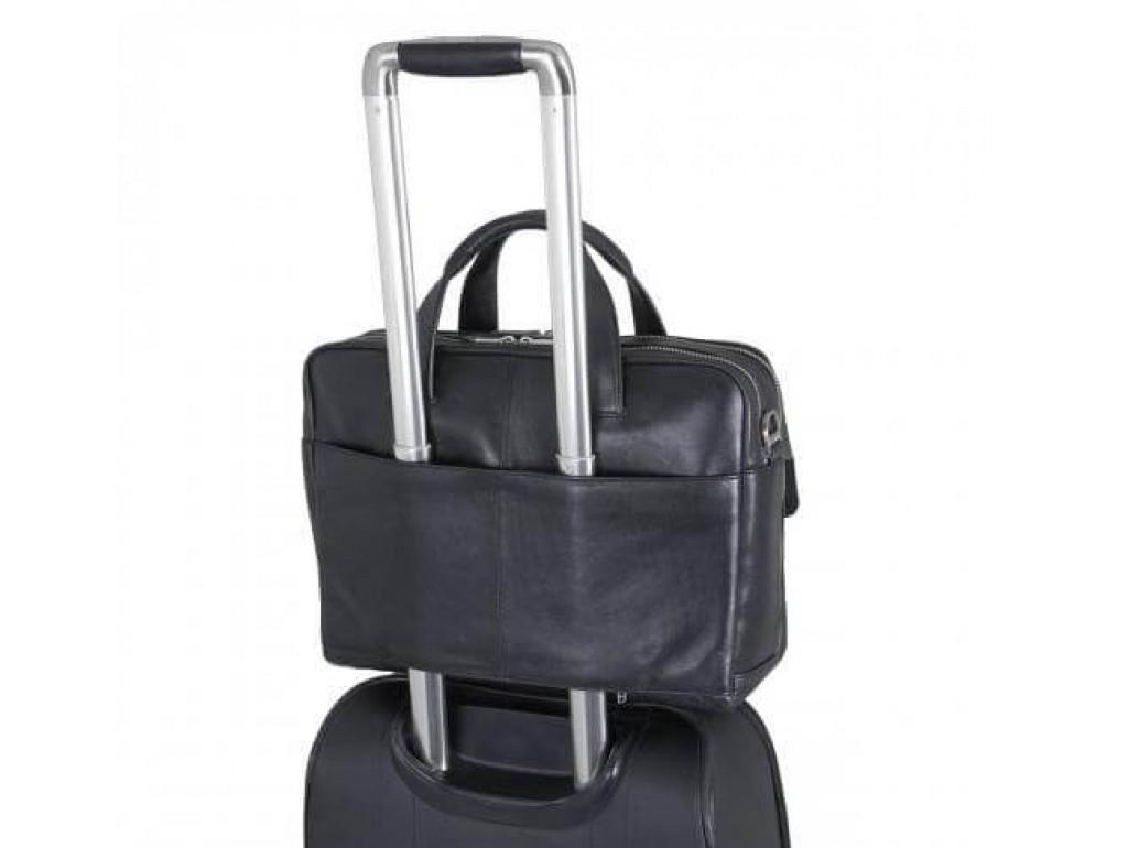 Вместительная мужская кожаная сумка для деловых поездок Blamont Bn065A-1 - Royalbag