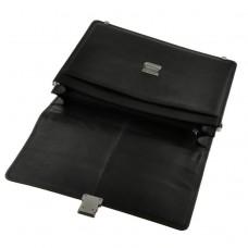 Классический мужской кожаный портфель черный  с замком Blamont Bn034A - Royalbag