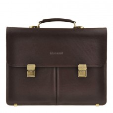 Портфель мужской кожаный коричневый с замками Blamont Bn063C - Royalbag