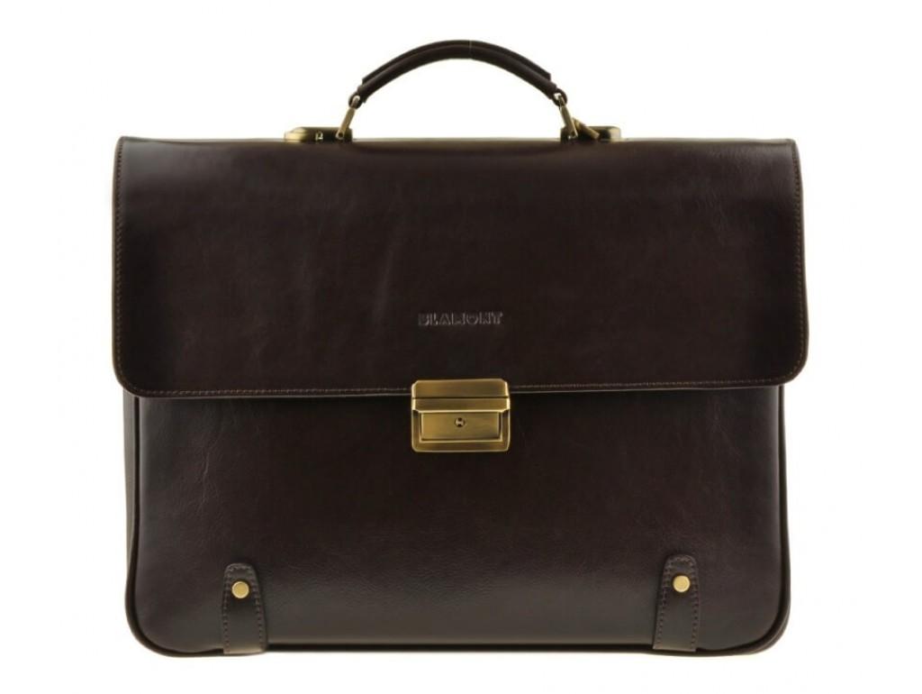 Мужской кожаный портфель Bn044C - Royalbag Фото 1