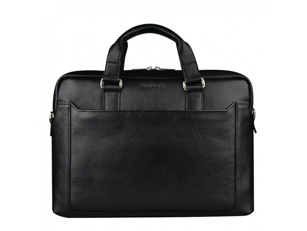 Классическая кожаная мужская сумка-портфель для документов Blamont Bn066A - Royalbag Фото 1