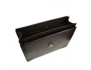 Мужской кожаный классический портфель с клапаном на замке Blamont Bn036C - Royalbag