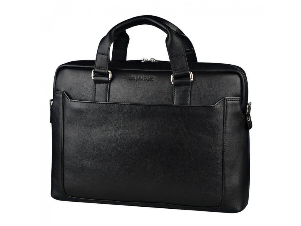 Классическая кожаная мужская сумка-портфель для документов Blamont Bn066A - Royalbag