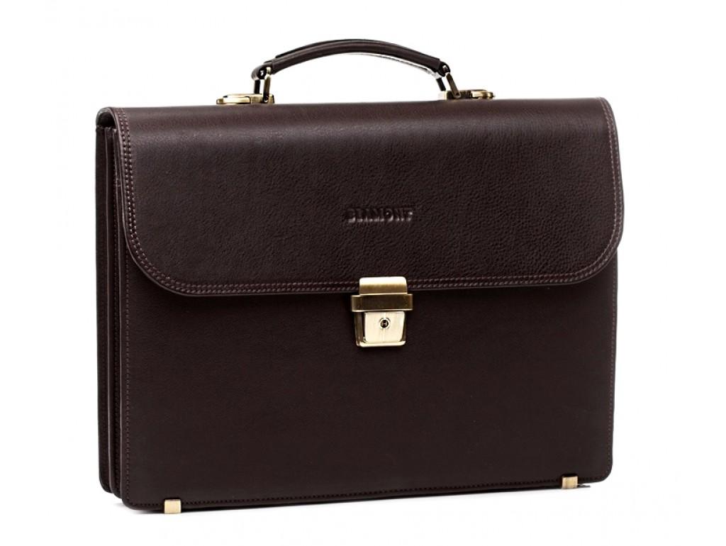 Классический портфель мужской кожаный коричневый элитный Blamont Bn039C - Royalbag Фото 1