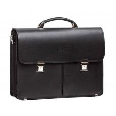 Деловой мужской кожаный портфель два отдела Blamont Bn063A - Royalbag
