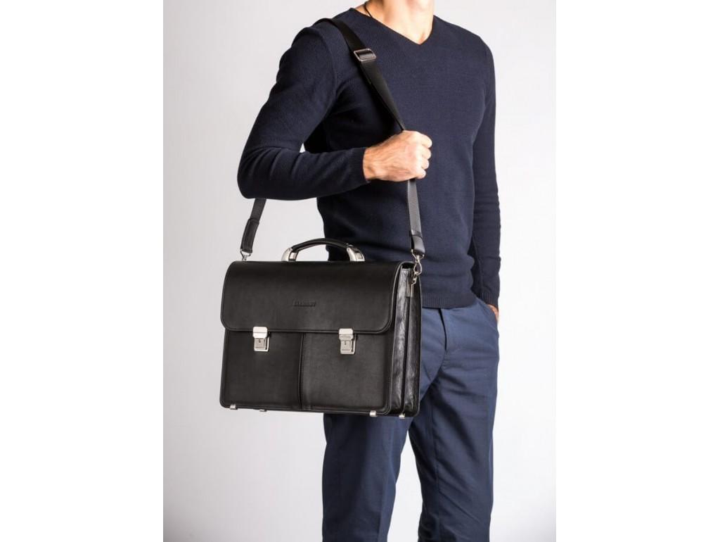 Діловий чоловічий  шкіряний портфель два відділа Blamont Bn063A - Royalbag