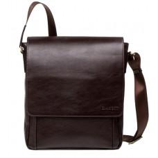 Чоловіча сумка-месенджер з натуральної шкіри шоколадного кольору Blamont Bn082C - Royalbag