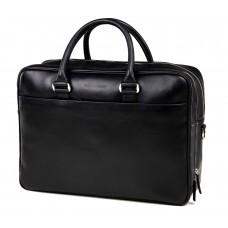 Вместительная офисная мужская кожаная сумка для ноутбука и документов А4 Blamont Bn107AI