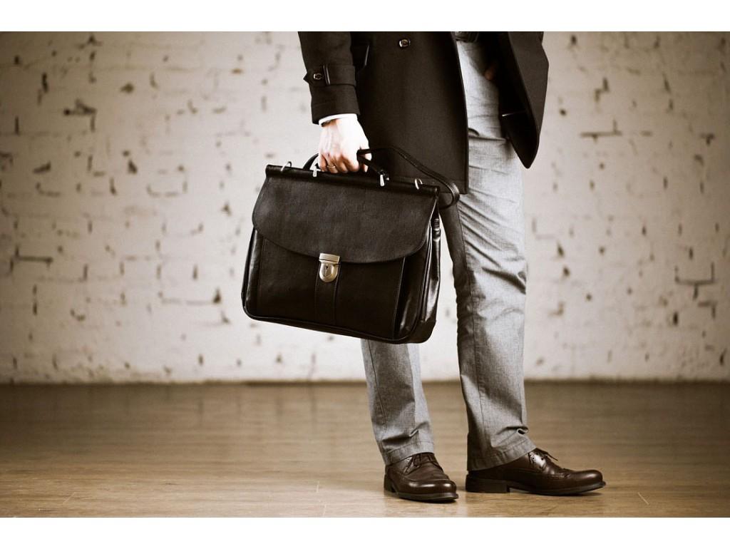 Мужской кожаный портфель Blamont Bn017A - Royalbag