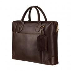 Деловая классическая мужская сумка для ноутбука шоколад Blamont Bn006C