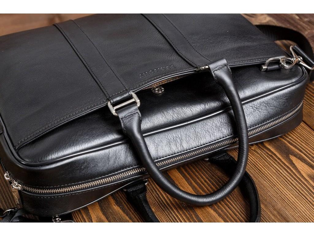 Классическая кожаная мужская сумка для ноутбука с наплечным ремнем Blamont Bn023A - Royalbag