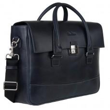 Кожаный портфель Issa Hara B25BL - Royalbag Фото 2
