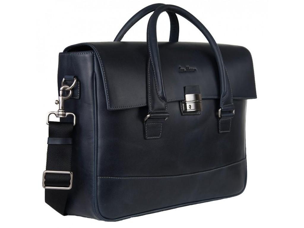 Кожаный портфель Issa Hara B25BL - Royalbag Фото 1
