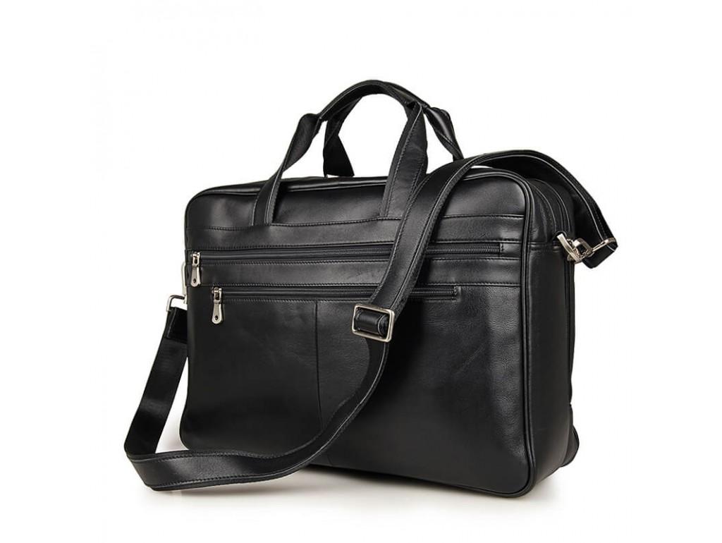 Містка ділова сумка-портфель для документів і ноутбука 17 дюймов Jasper&Maine 7319A - Royalbag Фото 1