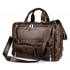 Большая деловая мужская кожаная сумка для поездок Jasper&Maine 7289C - Royalbag