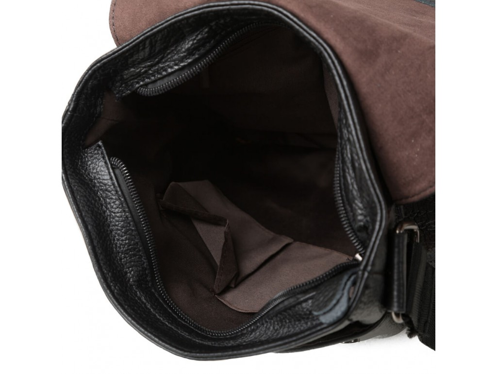 Мужской мессенджер с клапаном зернистая кожа Tiding Bag M38-1712A - Royalbag