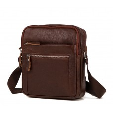 Мужская сумка на плечо натуральная кожа Tiding Bag M38-3922C - Royalbag