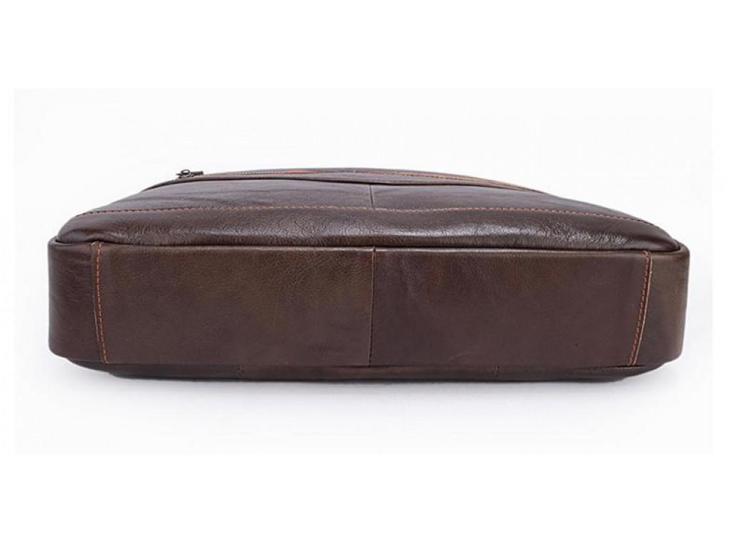 Мужская кожаная сумка для документов и ноутбука шоколад Bexhill Bx1128C - Royalbag