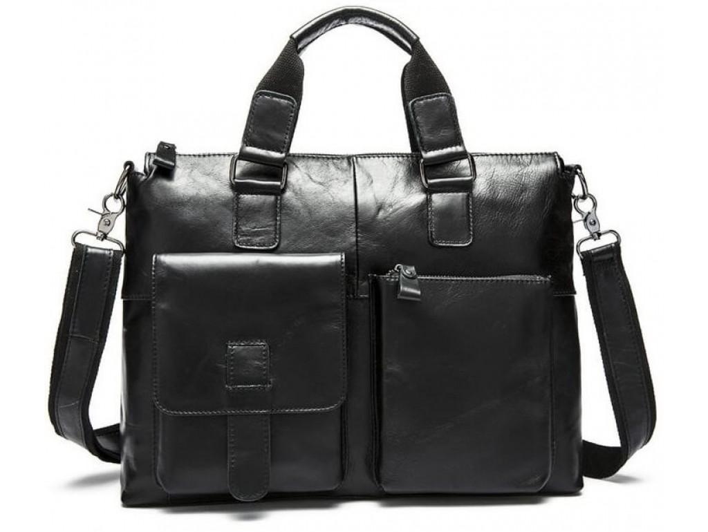 Сумка-портфель мужская деловая для ноутбука и документов Tiding Bag 7264A - Royalbag Фото 1