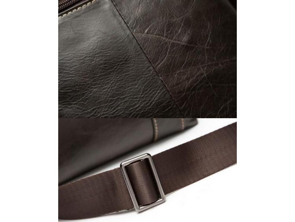 Сумка через плечо мужская глянцевая кожа Bexhill BX9010C - Royalbag